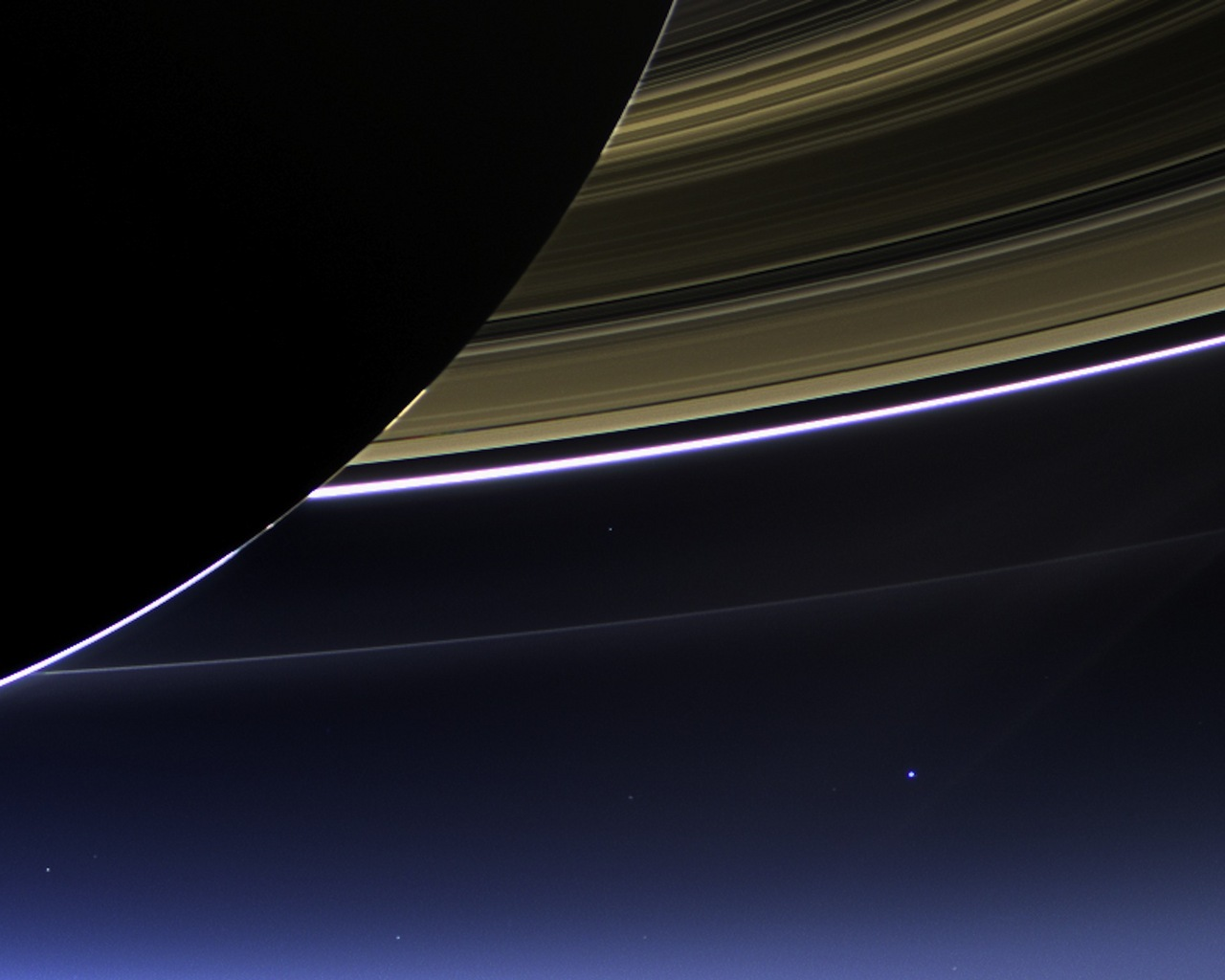 Earth and Moon From Saturn (page 2) - Pics about space